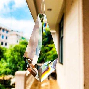 75mm diamante facetado cristal prism lâmpada candelabro decoração de vidro pingente diy suncatcher arte de vidro pendurado decoração arrow lance h jllgiq