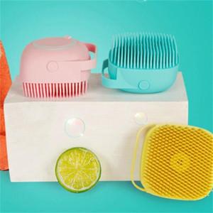 Cabezal de silicona Cepillo de Masaje Cuerpo Scampoo Scalp Masaje Cepillo Peine Peinado Lavado Lavado Peine Ducha Foot Scrubber Cepillo Baño Suministros 55 P2