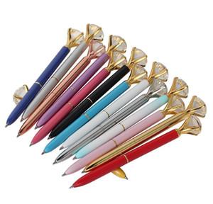 Lápiz de diamante de cristal de metal de lujo 8 colores lunares bolígrafos moda 19 quilates grandes ballido de diamante bolígrafos bbylpc ladyshome