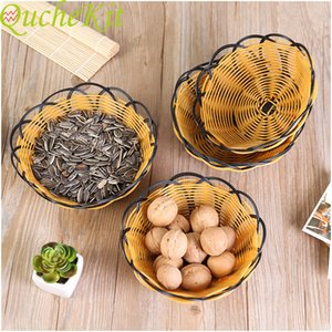 """18cm plastic hollow fruit tray""""; candy dessert tray, multifunctional household storage tray, small cosmetic storage basket"""