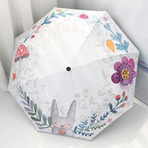 Kocotree-Kind-Mädchen-Karikatur-nette windundurchlässiger Regenschirm Big tragbar Falten Boy Sonnenschirme Sonnenschirm Wasserdicht bbyroK sweet07