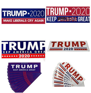 HOT Donald Trump 2020 Car Stickers 7.6*22.9cm Bumper Sticker Keep Make America Great Decal for Car Styling Vehicle Paster 3 New