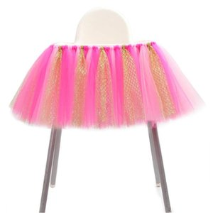 Chair Home Sashes Baby Shower Decoration Tulle Textile Wedding Event Supplies Festive Table Skirt Lightweight Party