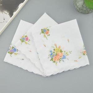 Fazzoletto da donna 100% cotone Floral Hankie Flower Flower Fazzoletti ricamato Asciugamani da taschino da donna colorati Asciugamani da sposa Confezione da sposa 169 G2
