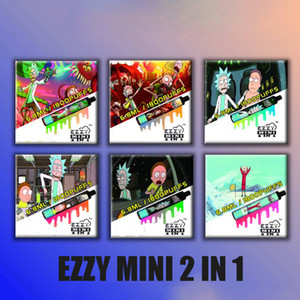 100% Original Ezzy MINI 2 in 1 Disposable Pod Device 6.8ml Vape Pen Kit 800 mAh battery 1800puffs dual vape VS BY2 Disposable DHL FREE