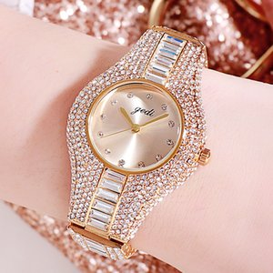 GEDI Brand Women Watches Top Luxury Full Rhinestone Crystal Wristwatch Gift Ladies Clock Relogio Feminino Montre Femme 201114