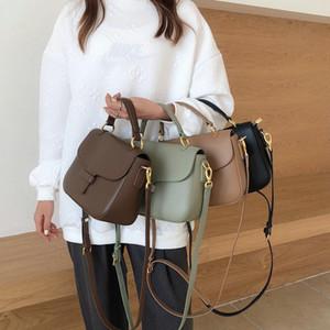 Vintage Half Round All-match Luxury Designer Leather Women Shoulder Messenger Bag High Quality Top Handle Hand Bag