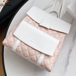 Doranmi diseñó la mochila de la bolsa de la escuela 2021 Diamond Lattice Female Rucksack Back Spight Bag Mochila SB174