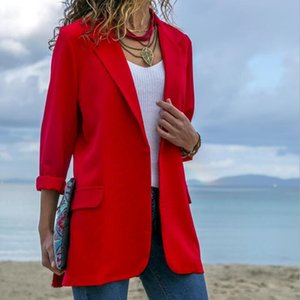 Fashion Autumn Women Suit Casual Solid Long Sleeve Blazers Style Slim Office Lady Business Jacket Tops Blazer Mujer fz2964