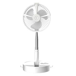 Portable Foldable Mini USB Fan Telescopic Rechargeable Fans Air Cooler Conditioner with Lamp Phone Holder Desktop Floor Cool wind