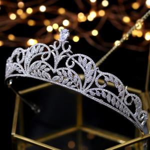 Asnora elegante princesa tiara boda tiaras de noiva coronas nupciales novia accesorios para el cabello