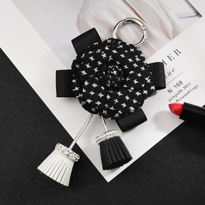 Fashion Rose With Tassel Keychain Gifts For Women Llaveros Mujer Car Bag Accessories Keyring Holder Jewelry Accessory Eh342 H bbysIy