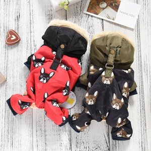 New French Bulldog Costumes Dog Winter Warm Snow Down Jacket Coat For Puppies Small Medium Animal Pugs Pet Cat Clothes Goods