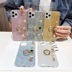 Fashion Ultra thin silicone bling diamond Luxury Bracelet Lanyard Phone For Oneplus 5 6 5T 6T 7 7T 3 Pro Case Cover