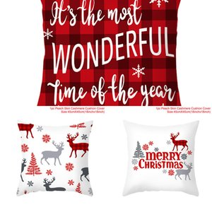 Merry Decorations For Home Santa Claus Snowflake Tree Cushion Cover 2020 Christmas Ornaments Gifts Natal New Year 2021