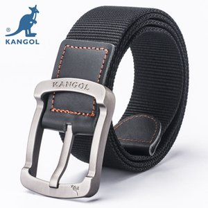 Kangol belt men's pin buckle canvas belt youth leisure outdoor students simple military training pants belt authentic