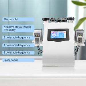 6 в 1 Ультразвуковой лазерной кавитационной кавитационной кавитации LiPo Pipo RF Skin Tinkeninng Cellulite Massager Liposuction Machine для SPA
