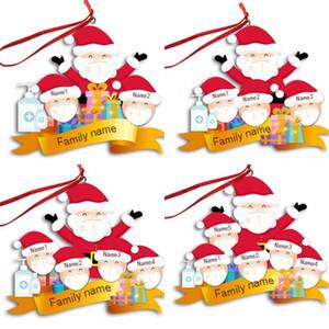 2020 Yılbaşı Ağacı Süsleme El Temizleyici Model Ailesi Adı Kelime Christmases Serisi kolye DIY Yeni Geliş 7SL J2