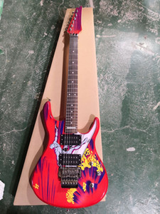 Custom Made 20th Yıldönümü JS20S İmzalı Joe Satriani Sörf W / Alien Elektro Gitar Joe Satriani İmzalı Arka Plaka