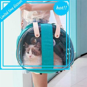 New pet easy to go out, transparent Dog Backpack, foldable and breathable portable bag, cat supplies