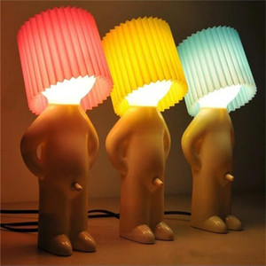 Naughty Boy Night Lights A Little Shy Man Creative Lamp Small Night Lamps Home Table Decoration Children Kids Festival Nice Gift