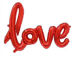 Воздушные шары Быстрая Доставка Любовь Алфавит Воздушные шарики День рождения Вечеринка Свадебные Украшения Майлар Фольга Баллон Баллон Большое письмо Balloons PPD3818
