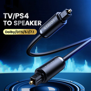 Alta Qualidade Digital Audio Toslink 1m 1,5 m 2m 3m Preto SPDIF coaxial Cabo para PS4 XBOX Projector Speaker TV Cabo