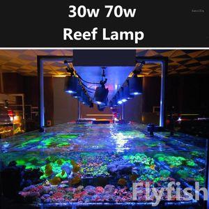 Reef Acquario Acquario di mare Corallo Led Light 30W 70W Sea Water Sunrise Sunset Pieno Spectrum LED Sea Coral Light Tube Morsetto Lampada1