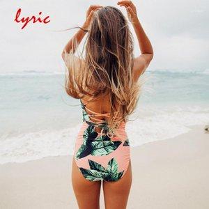Lyric One Piece Maillot de bain Hot Tankini Chaude Tankini Bain Maillot de bain Bande Maillot de bain Bather Coupe Bikini Sexy Beachwear Pailleur de bain