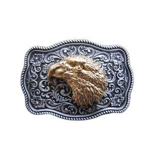 Small Size Vintage Original Eagle Head Western Belt Buckle Boucle de ceinture