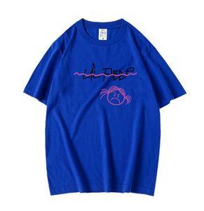 Новая мода личности печатная футболка летняя рубашка с круглой рубашкой с короткими рукавами