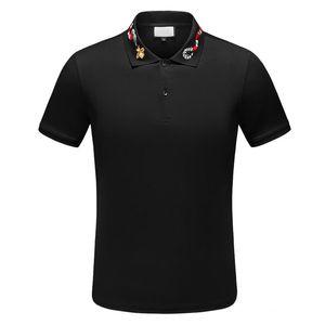 2021 جودة عالية الرجال تيز بولو المرقعة رجل مصمم تي شيرت عارضة الرجال الملابس القطن المحملة الأزياء بولو قميص