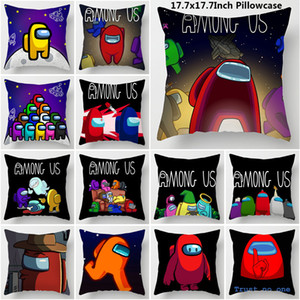 Among Us Pillow Case 45*45cm New Game Among us Cute Cartoon Pillowcase Without PP Cotton 22 Patterns DHL Free Shipping