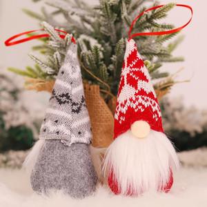 Handmade Рождество Гномы украшения плюша Swedish НИССЕ Санта Фигурка Скандинавский Elf Рождественская елка кулон украшения домашнего декора
