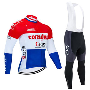 Tour De France 2020 Pro Team Corendon Winter Cycling Jersey Thermal Fleece Cycling Clothing Bib Pants Kit Ropa Ciclismo Inverno
