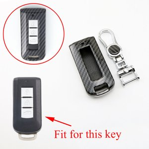 Carbon Fiber Remote 2 3 4 Buttons Key Shell Case Fob Bag Box Chain Cover Fit For Mitsubishi Lancer Outlander Eclipse Galant Accessories