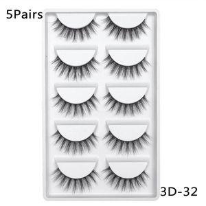5 Pairs 3d Mink Hair False Eyelashes Extension Big Eyes Makeup Natural Wispy Lashes Handmade Cruelty-free Criss-cross Eyelash sqcYvQ
