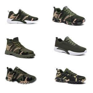 2020 Без бренда Hotsale Дизайнерские Обувь Мужчины Женщины Беговые Обувь Камуфляжная Армия Зеленый Открытый Тренер Siez 36-44 Стиль 302