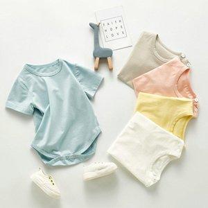 2021 Baby Boy Girl Romper Pigiama Summer Manica Corta Soilt Newborn Neonati Vestiti Cotton Toddler Getting Bullsuits 0-24m