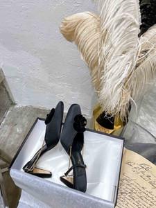 New designer high heel chain sandals, fashionable camellia design sandals, good quality designer high heels, dust bag box card