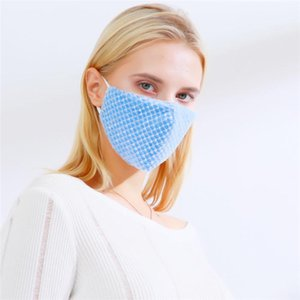 Designed Sequined Party Face Masks For Adults Adjustable Earloop Anti Dust Windproof Cloth Mask Can Put PM2.5 Filters GWE4449