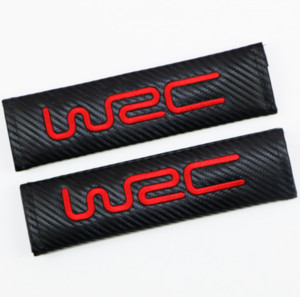 2pcs Carbon Fiber WRC World Rally Championship Car Seat Belt Cover Shoulder Pad
