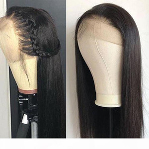 360 Lace Frontal Wig Brazilian Virgin Hair Straight 360 Full Lace Frontal Human Hair Wigs Pre Plucked With Baby Hair