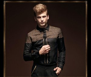 FanZhuan Free Shipping New fashion casual black men's male Baroque men's long sleeve shirt plus velvet thick warm shirt 14268