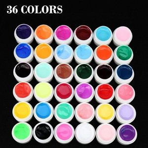 For Polish Nail Art 36 Mix Colors Pots Pure UV Gel Builder Tips Manicure DIY Women Nail Beauty Makeup Gel Easy To Use iDHb#
