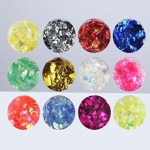 Nail Art Glitter Elbise DIY Charms Nail İpuçları Kademeli Değiştirme Renk Kabuk Tarzı Süslemeleri (Ramdon Renk)