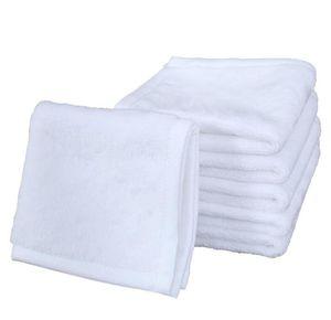 Toalla de sublimación Poliéster Algodón 30 * 30 cm Toalla en blanco Toalla cuadrada blanca DIY Impresión de bricolaje Hogar Toallas Toallas de mano suave YL156