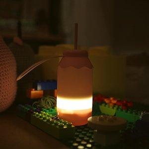 Quente Baby Bottle Night Light USB Carregador LED Portable Leite Silicone Lâmpada Bedroom Camiseta Portátil Esticando Night Light