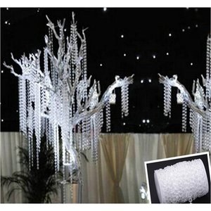 Party Supplie 30m Acrylic Crystal Beads Clear Diamond Fiesta de bodas Garland Chandelier Cortina Decoraciones TA JLLLNXG SINABAG