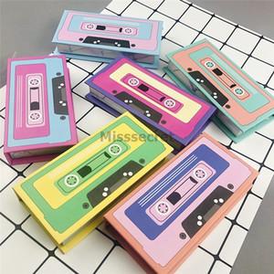 Nueva Mink pestañas 3D Box Mink Pestañas Embalaje patrón de la cinta magnética del caso del Bottom Lash láser lindo paquete de pestañas falsas Cajas